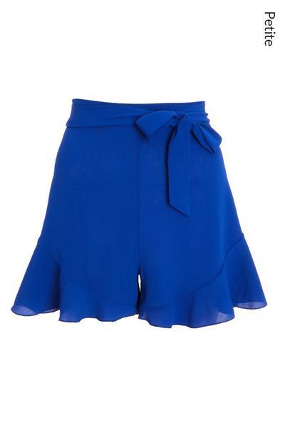 Petite Blue Frill Shorts